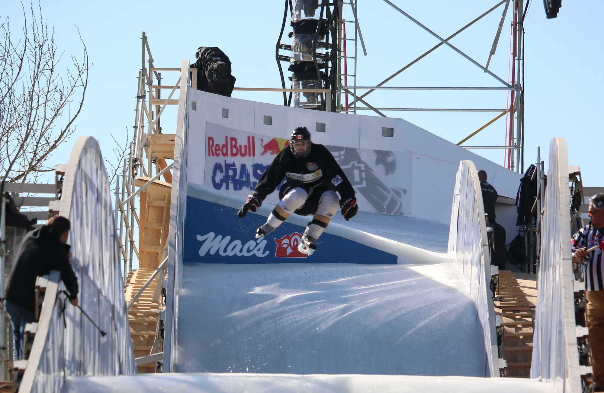 Red Bull Crashed Ice Athlete in the air